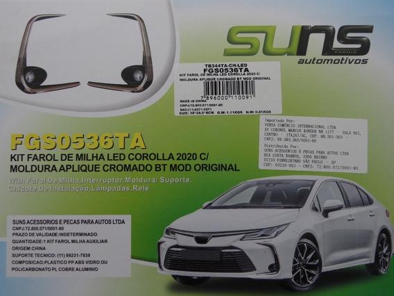 Kit Farol De Milha Led Toyota Corolla 2020 C/moldura Cromada
