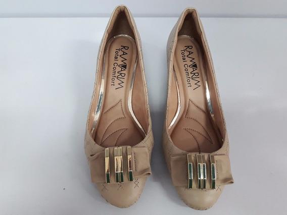 Sapato Feminino Ramarim 1491103 Amendoa Super Conforto