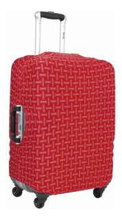 Capa Protetora Mala De Viagem Média Vermelha Logo Sestini