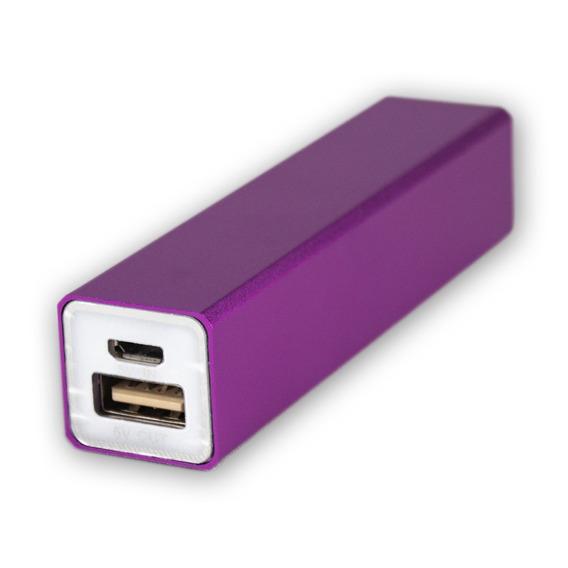 Batería Power Bank 2200 Morado Cargador Portátil Celular