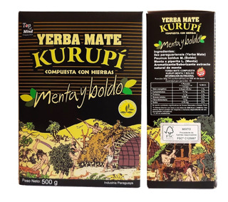 Kurupi Erva Mate Paraguaia Original 5x500g - Frete Gratis