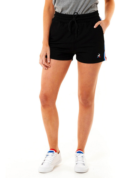 Short Ess Stripe Negro Mujer Le Coq Sportif