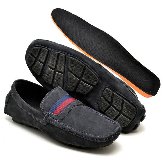 Sapato Sapatenis Casual Masculino Couro Palmilha Gel