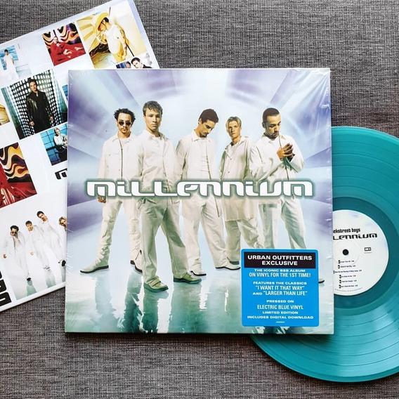 Lp Backstreet Boys Millennium Vinil Azul Lacrado No Brasil