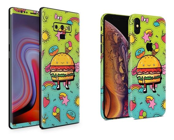 Skin Cute Burger Apple Samsung Huawei Lg Sony Xiaomi Etc