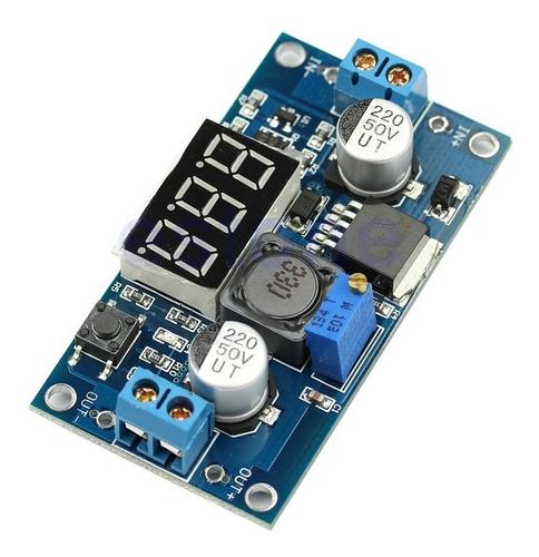 Fuente Lm2596 Convertidor Dc-dc Con Voltimetro Digital