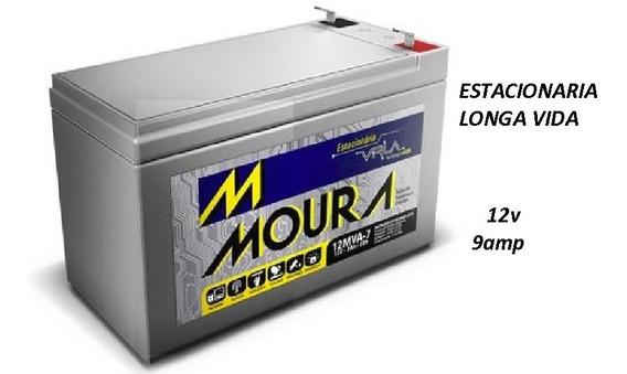 4 Bateria Estacionaria Moura 12v 9 Amp Carga Nota Fiscal