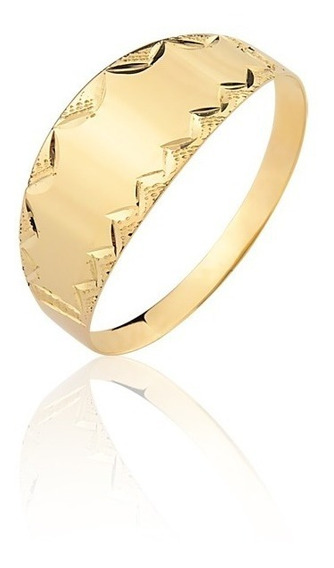 Anel Ouro Amarelo 10k Maciço Chapa A98