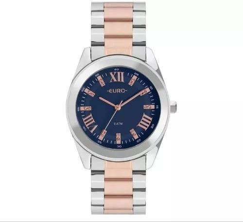 Relógio Euro Feminino Color Misto Bicolor Eu2036ync/5a