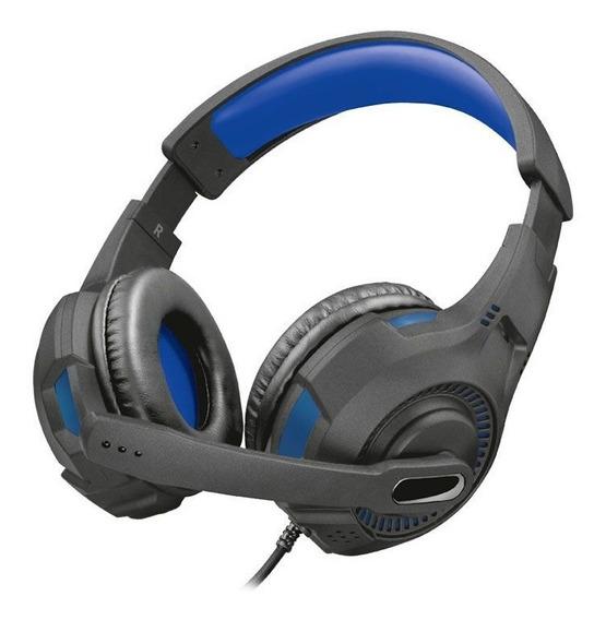 Fone De Ouvido Gamer Trust Ravu Azul Ps4/ps4 Pro Gxt307b
