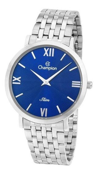 Relógio Champion Analógico Masculino Prateado Ca21795f