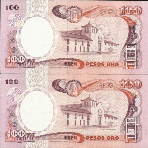 Colombia Dúo  Consecutivos   100 Pesos Oro 12 Octubre 1988