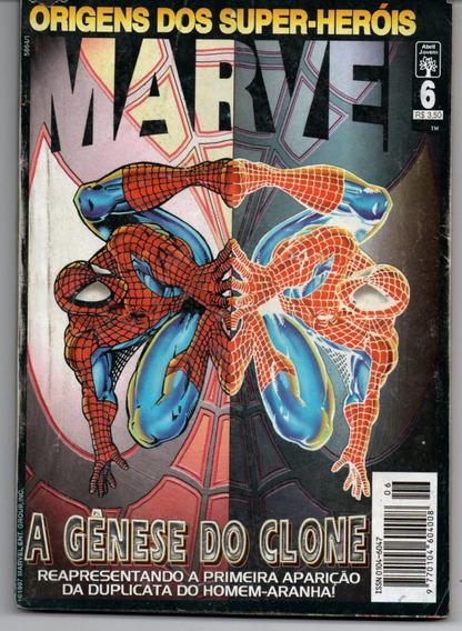 Origens Dos Super-heróis Marvel Nº 6 /abril