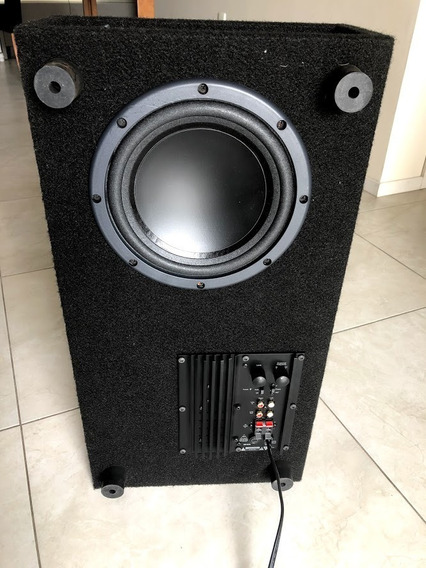 Subwoofer Home Theater Perfil Baixo Slim 100 Watts Rms