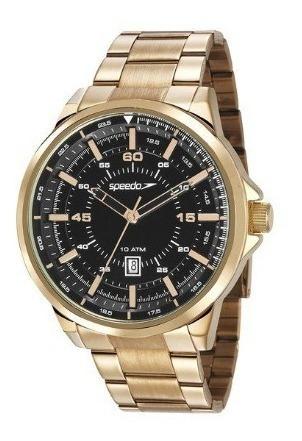Relógio Speedo Masculino Analógico Dourado