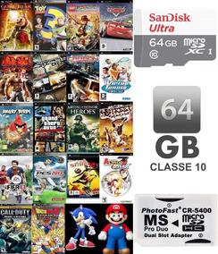 Cartão 64gb Sandisk (classe 10) + De 3200 Patch Inclusos