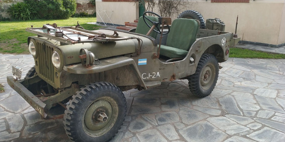 Jeep Willys Cj2a 1946 Original, Completo 4x4