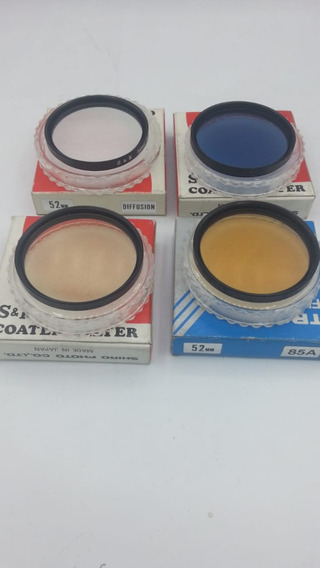 Kit Com 4 Filtro 52mm 85a,82a, C12 E W4