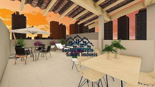 Cobertura Com 2 Dormitórios À Venda, 86 M² Por R$ 320.000,00 - Vila Junqueira - Santo André/sp - Co0461