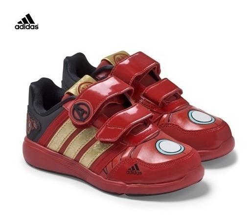 Zapatillas adidas Iron Man Avengers Talle 35 Importad Nuevas