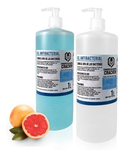 Imagen 1 de 10 de Gel Antibacterial Para Manos Desinfectante 1 Litro