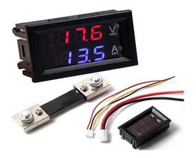 Voltímetro Amperímetro Digital C/shunt Mede Até 50a