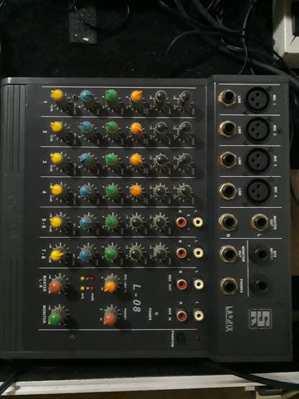 Mesa De Som Mixer Staner Lapmix L-08 Com Phantom Power