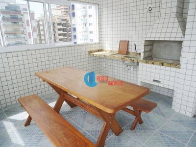 Apartamento Novo 1 Dormitório Com Sacada, Lazer E 100 Metros Da Praia - Facilitado Aceita Carro - Ap0886