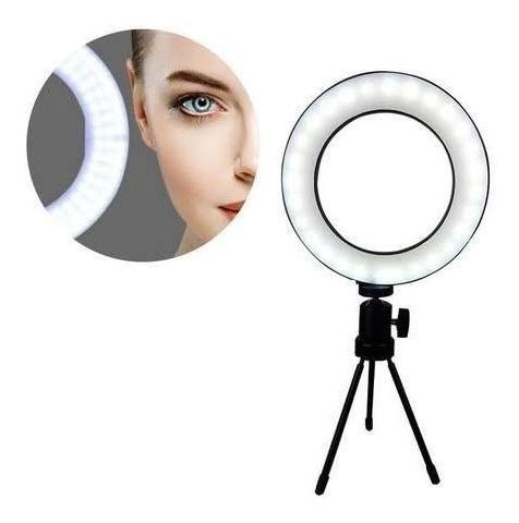 Iluminador Ring Light Tripé Luz Selfie 16 Cm Led
