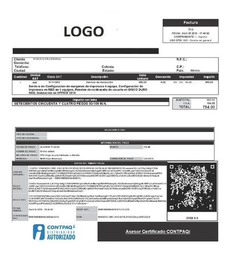 Plantillas Contpaqi Cfdi 3 3 Adminpaq Y Fe Kit Completo Mercado Libre