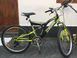 Bicicleta Mtb Aurora Dsx 24 Doble Amortización Impecable!!