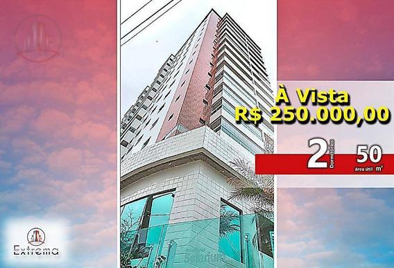 Apartamento Com 2 Dormitórios À Venda, 50 M² Por R$ 250.000,00 - Solemar - Praia Grande/sp - Ap1107