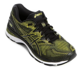 Tenis Asics Gel-nimbus 20 Masculino - Preto/amarelo Neon