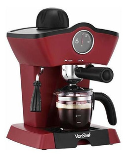 Vonshef 220 240 Volts Espresso Cafe Maquina Con Re-usable F