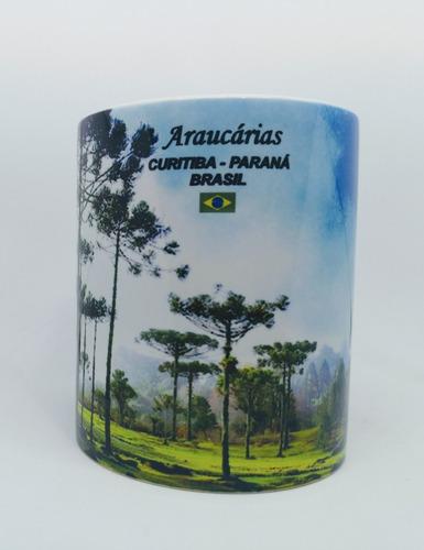 Caneca Lembrança De Curitiba - Árvore De Araucária -