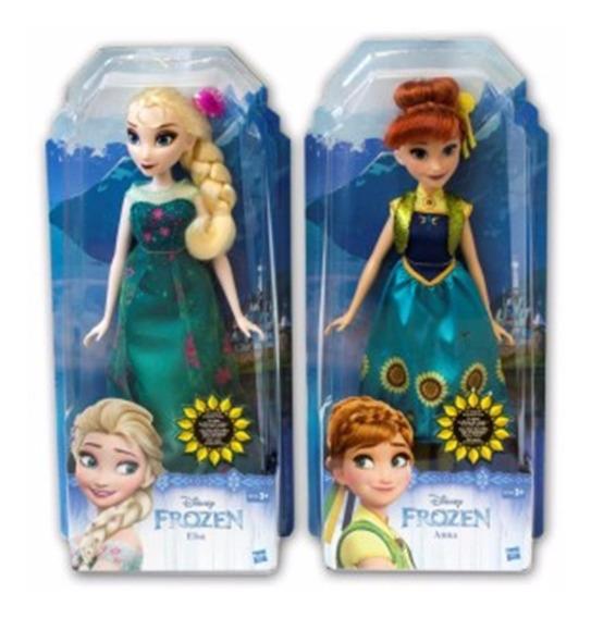 Muñecas Frozen Elsa Y Anna 29 Cms Marca Hasbro Originales
