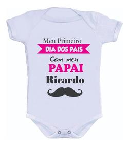 Body Primeiro Dia Dos Pais Infantil Personalizados Papai