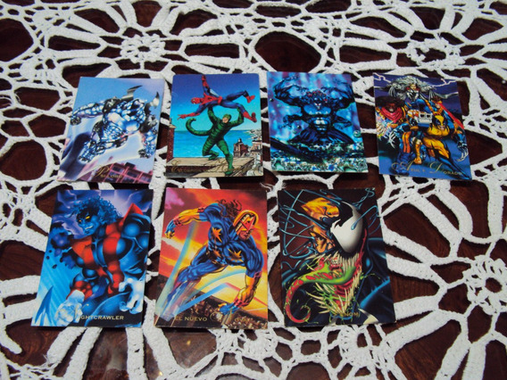 Lote Pepsicards Marvel Comic Spiderman Venom Wolverine