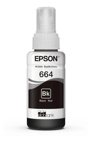 Imagen 1 de 4 de Kit 4 Tintas Epson T664 Negro Ecotank Tinta Continua L120 L3