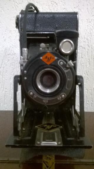 Agfa Standard Vintage Câmera Fole Dobrável P/ 120 Filme 1920