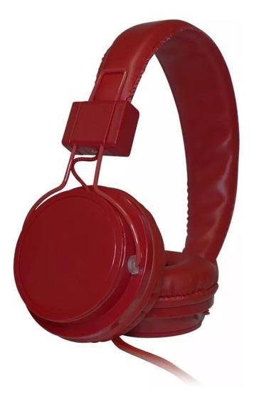 Headphone Mastersom Kimaster F0615 Vermelho Com Microfone
