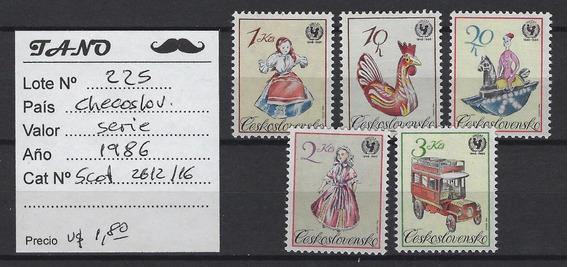 Lote225 Checoslovaquia Serie Completa Año 1986 Scott#2612/16