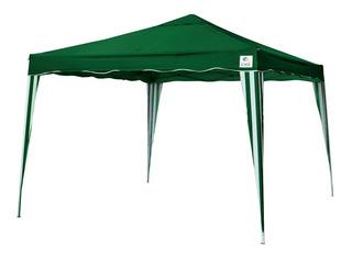 Tenda Gazebo 3x3 Sanfonada Dobrável Alumínio Poliester Verde