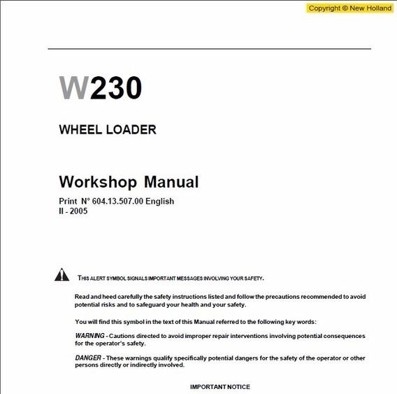 Manual De Serviço - New Holland - W230