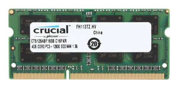 Memoria RAM 4GB 1x4GB Crucial CT51264BF160B