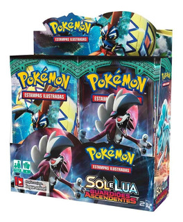 Box Pokemon Sol E Lua 2 Guardiões Ascendentes 36 Bosters
