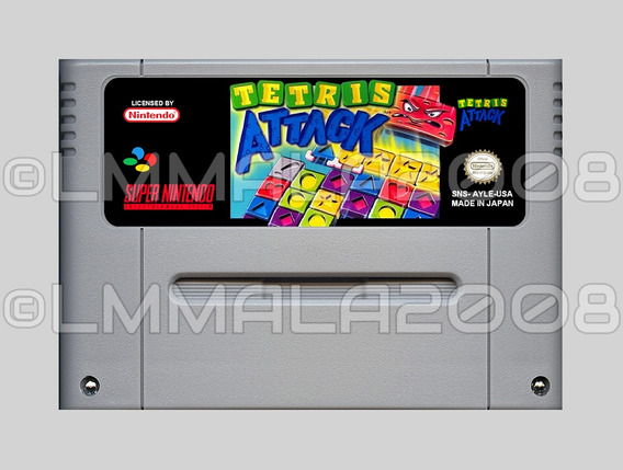 Original Super Nintendo Tetris Attack Em Ingles Snes