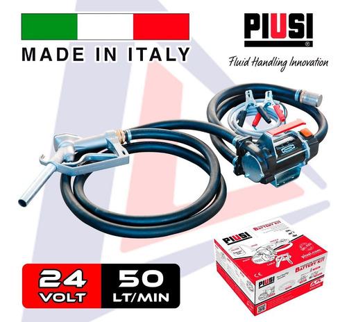 Bomba Surtidor Trasiego Gasoil 24v Pisui Italia Completo!