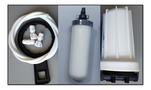 Carcasa 7 +filtro Cerámica Purificador Agua Ozono+enviograt