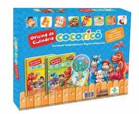 Coleção Oficina De Culinária Cocoricó 2 Livros+dvd+cartazes